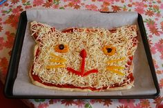 cat pizza. i want this for my birthday next year. no olives.