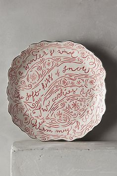 Winter's Eve Dinner Plate #anthrofave #anthropologie #gift