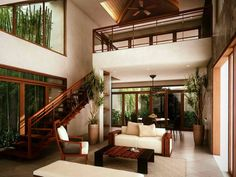 House interior ideas tropical interior design ideas pin by on real estate in tropical house design . Modern Tropical House, Tropical House Design, Small House Interior Design, Tropical Interior, Asian Interior Design, Asian Design, Interior Ideas, Bungalow, Southern Living