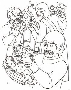 Coloring Pages About Jesus Feeding 5000 | Free coloring pages for kids