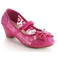 Beston BA77 Children Girl Round Toe Kitten Heel Bow Deco Slip On Lace Dress Pump, Color:FUCHSIA, Size:13 M US Little Kid BESTON http://www.amazon.com/dp/B017U12UWW/ref=cm_sw_r_pi_dp_bnQUwb00S3P6V