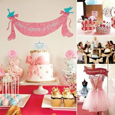 Princess party once upon a time banner