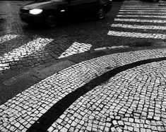 White Stripes and a Black Car