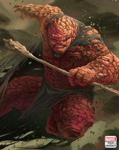 The Thing; for Marvel World of Heroes, painted by Oscar Romer // portfolio // ArtStation.