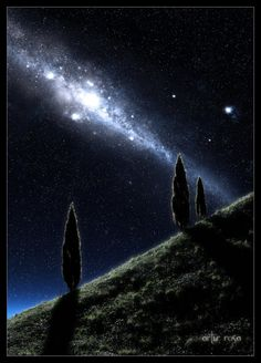Night somewhere by ArthurBlue.deviantart.com on @DeviantArt