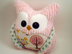 owl in pink chenille