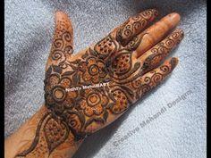 YouTube bold and beautiful gulf henna mehndi design