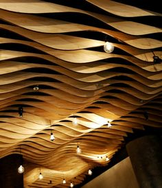 plywood ceiling  | Pictures - Moriya - laser-cut plywood ceiling - Architizer