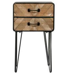 Vintage Side Table Small Metal Coffee End Tables Lamp Stand Industrial Furniture