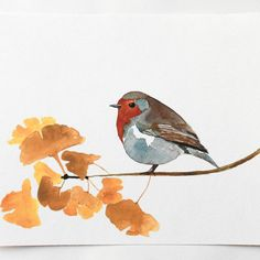 Impresión de Giclee acuarela aves arte inglés por TheWoodedTrail