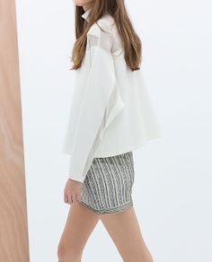 Immagine 4 di GONNA RICAMATA ORNAMENTI di Zara
