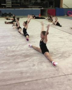 Rhythmic gymnastics | Tumblr  I'd be the woman in the back kicking up one foot