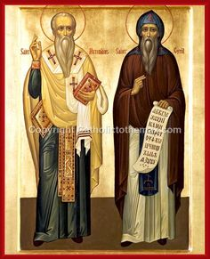 Sts. Cyril and Methodius Icon Wall Plaque