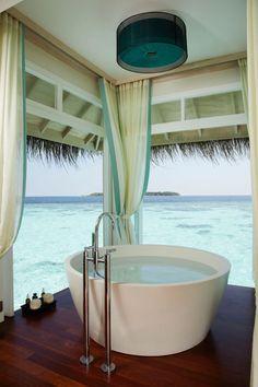 Amazing Anantara Kihavah Villas in Maldives by Anantara Resorts - Architecture Design Ideas - Interior Design Ideas Future House, My House, Interior Exterior, Interior Design, Interior Decorating, Decorating Ideas, Deco Design, Design Design, Beautiful Bathrooms