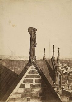 vintage everyday: Old Photos of Notre Dame de Paris from 1840s to 1850s