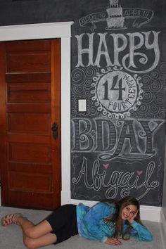 Bricks & Honey: Chalkboard Wall Happy Birthday