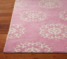 Medallion Rug on potterybarnkids.com. Perfect for ballerina or princess bedroom.