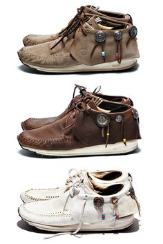 Leather gypsy shoes