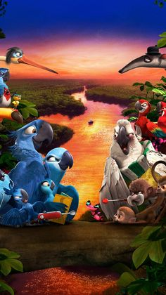 "Wallpaper for ""Rio Rio Wallpaper, Disney Phone Wallpaper, Wallpaper Iphone Cute, Cute Cartoon Wallpapers, Movie Wallpapers, Disney Cartoons, Disney Movies, Cartoon Caracters, Rio 2"