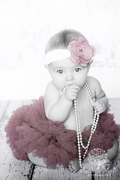 photography...baby in tutu and pearls