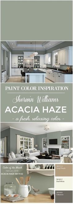 Outstanding Paint Color Inspiration: Sherwin Williams Acacia Green for walls. The post Paint Color Inspiration: Sherwin Williams Acacia Green for walls…. appeared first on Home Decor .