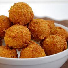 Honey-Chipotle Hush Puppies   #glutenfree #vegetarian