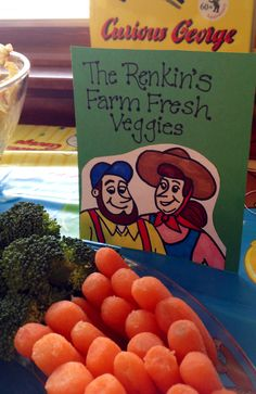 """The Renkin's Farm Fresh Veggies"" - Curious George Party Monkey Birthday, Baby Birthday, Birthday Bash, Birthday Ideas, Third Birthday, Curious George Party, Curious George Birthday, 3rd Birthday Parties, Baby Party"