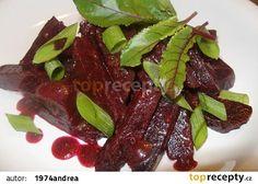 Salát z červené řepy s medem recept - TopRecepty.cz Beetroot, Raw Food Recipes, Paleo, Beef, Vegetables, Cooking, Healthy, Kitchen, Cucina