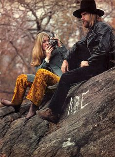 Berry Berenson and Leon Russell