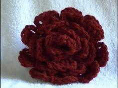 Crochet Rose Flower How To