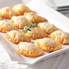 An authentic Spanish finger food in an appetizer size, these are a festive and irresistible treat.  Buttery puff pastry envelops a complex blend of spicy chorizo sausage and sharp Manchego cheese, creating a sensation of flavors that is perfect for any celebration.  It's like having a fiesta in your home.  15 pieces.