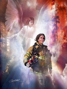Guardian Angel for a female Firefighter.