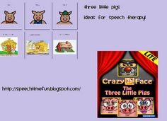 Three Little Pigs Activities for Speech Therapy -  Pinned by @PediaStaff – Please Visit http://ht.ly/63sNt for all our pediatric therapy pins