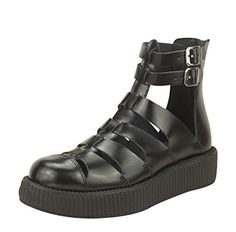 TUK Original Footwear Womens V8867L Gladiator ShoeBlack LeatherUS 9 M >>> Details can be found by clicking on the image.