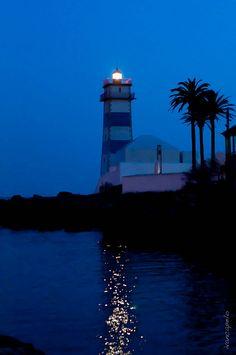 Blue Light ~ Cascais #Lighthouse, #Portugal http://www.flickr.com/photos/71892521@N05/6988191791/in/photostream/