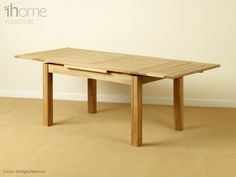 Solid oak 1.4 Metre extending table