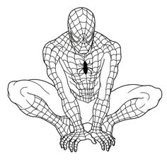 ultimate spiderman coloring pages - Spiderman Coloring Page