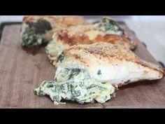 Spinach Artichoke Dip Stuffed Chicken. It's #paleo and delicious!!!