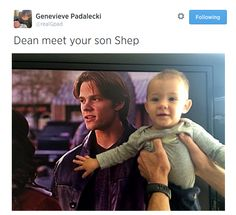 Gen's Tweet. Sweet little Shep is growing like a weed. I believe he has daddy's nose and eyes! <3
