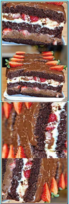 Torta Chocolate, Sweet Recipes, My Recipes, Bulgarian Recipes, Carrot Cake, Cake Pops, Food To Make, Strawberry, Easy Meals