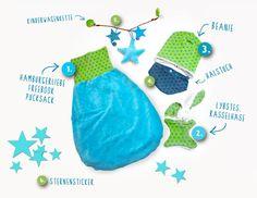 Lybstes. Geburtsgeschenke für das Baby, Sterne - Türkis - Grün