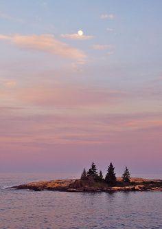 ✮ Sunset on Maine Coastline by Christine Tobolski
