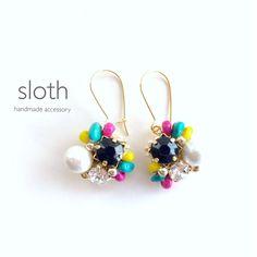 black bijou × colorful beads