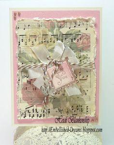 Embellished Dreams: Crafty Secrets Rose Music Note Cards