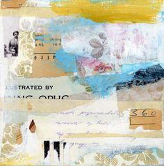 """""""Près d'un an"""" Collage on panel - Angela Petsis."""