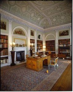 Old Library- Harewood House (The chairs are all by Chippendale.