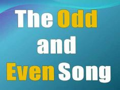 The Odd and Even song Odd Bod and Even Steven (Twinkle twinkle little star)