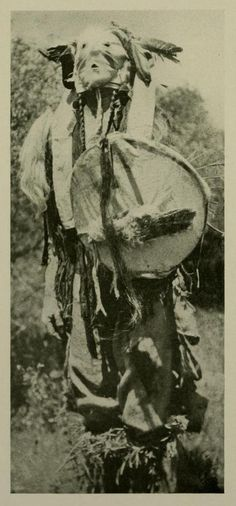 A clown.   Crow Indian Clowns  Robert H. Lowie New York: The American Museum of Natural History Press, 1912.
