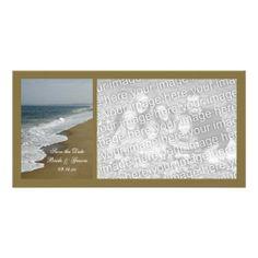 Beach Wedding Save the Date Photo Card