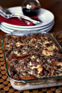 French Toast Bread Pudding source: adapted from Ina Garten {Barefoot Contessa} serves 6